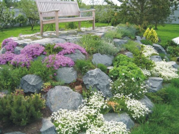 for Landscaping rocks on a hill